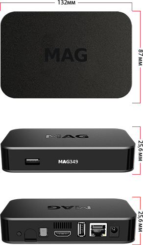 MAG 349 W3 IPTV Set-Top Box