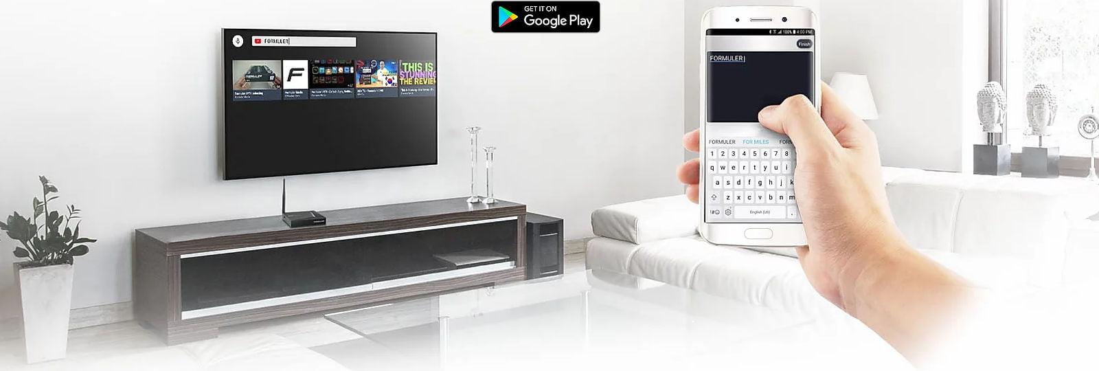 Formuler Z8 app sync Android app.