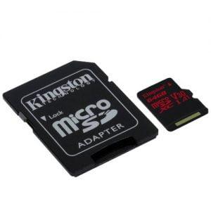 Kingston Canvas react 64 GB micro SD geheugenkaart