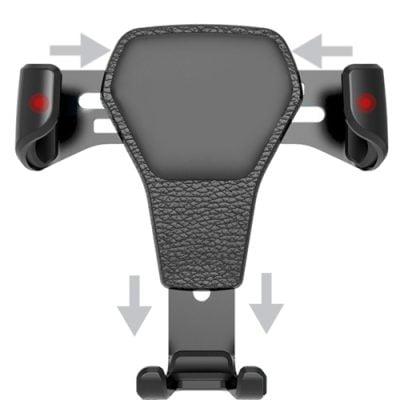 Universele smartphone autohouder gravity werking