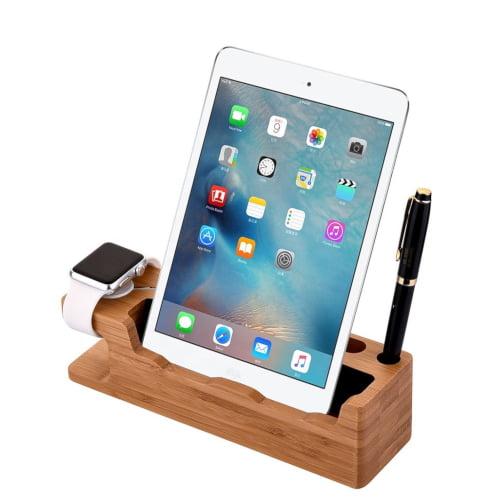 tablet bamboe houder dockingstation