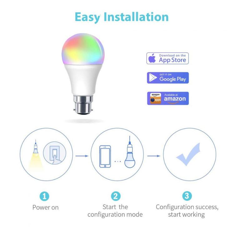 Xidio Smart LED lamp installation