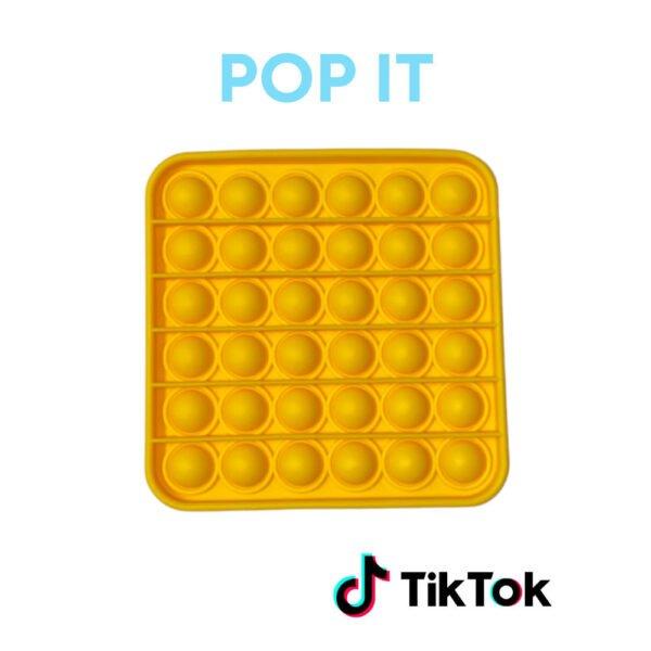Pop IT gele vierkant