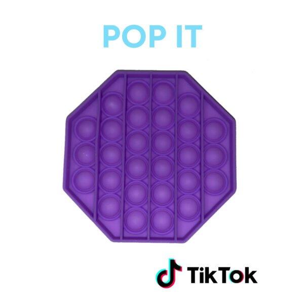 Pop IT paars achthoek