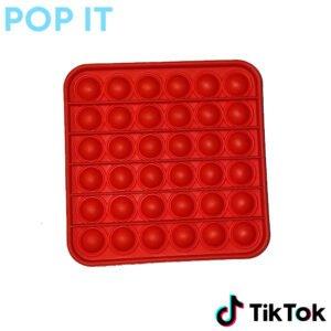 pop it rood vierkant